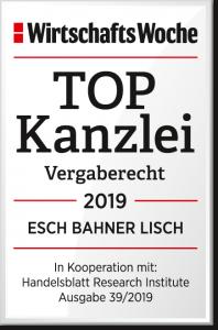 Auszeichnung Top Kanzlei der WirtschaftsWoche